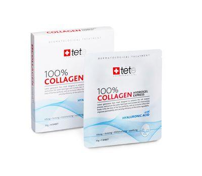 100% Collagene Hydrogel Mask /Tete/ Гидроколлагеновая маска моментального действия, упаковка (4 штуки)